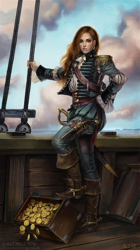 femme pirate  tresor coloriage pirates pinterest
