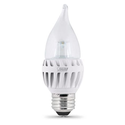 feit electric led bulb clear candelabra tip