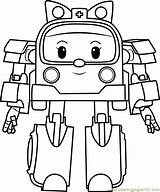Coloring Amber Pages Poli Robocar Coloringpages101 Cartoon Popular sketch template