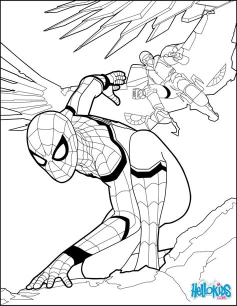 avengers and spiderman coloring pages spiderman coloring page from the new spiderman movie