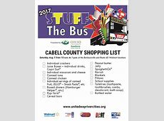 Stuff the Bus Aug 5th – Cabell County list – Cabell