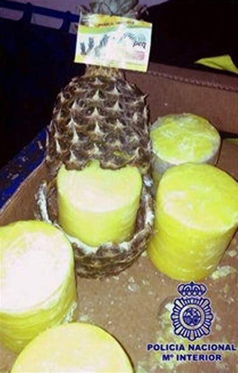 pineapple express  pounds  cocaine hidden  fruits