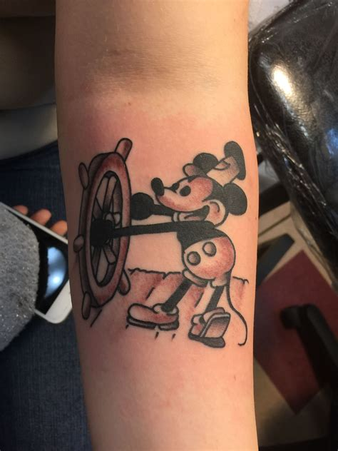 Steamboat Willie Tattoo by Steamboat Willie Classic Mickey Mouse Disney Tattoo