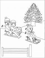 Sledding Coloring Toboggan Template Popular Coloringhome sketch template