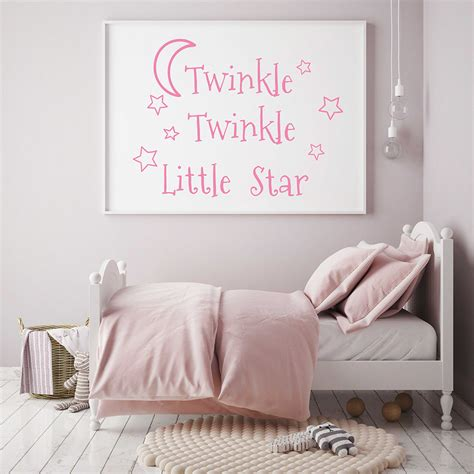 Wall decor and art for nurseries. Twinkle Twinkle Little Star Decals Stars Nursery Decor Baby Room Vinyl Wall Stickers Bedroom ...
