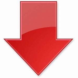 Red Down Arrow transparent PNG - StickPNG