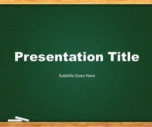 green chalkboard powerpoint template    template