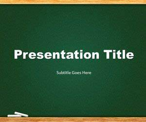Green Chalkboard PowerPoint template is a free template ...
