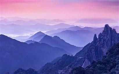 Foggy Mountains Morning Desktop Purple Wallpapers Hdwallpaperslife