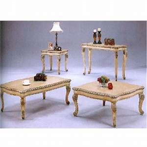 Coffee table antique white coffee table 4226 abc for Antique white coffee table sets