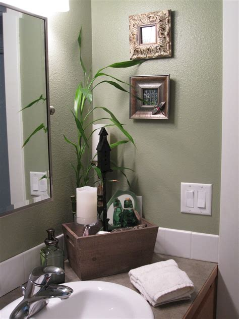 Spa Green Bathroom spa like feel in the guest bathroom the fresh green color