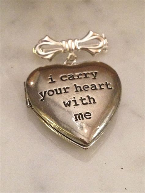 bridal bouquet charm locket ee i carry your heart