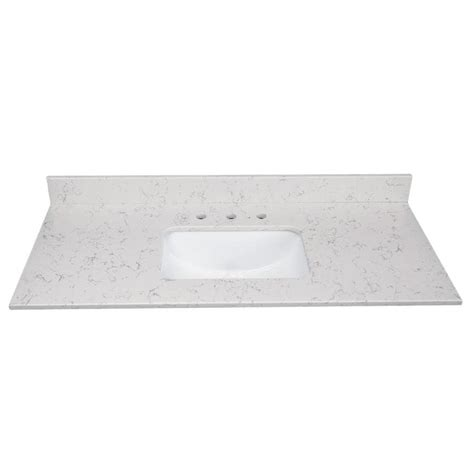 shop  marble arctic carrara quartz undermount single
