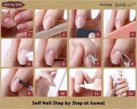 Nail art at home step by polish hand