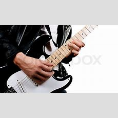 Guitarist Playing On Electric Guitar   Stock Photo Colourbox