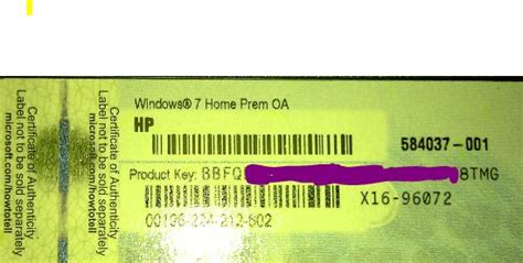 Hp Laptop With 2 Different Product Key?