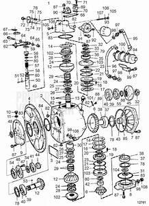 Volvo Penta Explosionszeichnung Innenbordgetriebe Hs1a  1