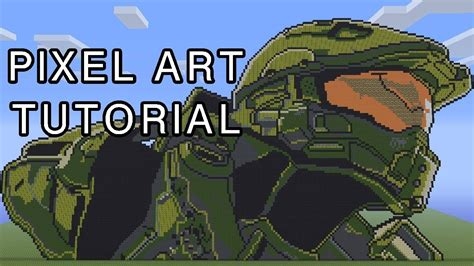 Minecraft Pixel Art Tutorial Master Chief Halo 4 Youtube