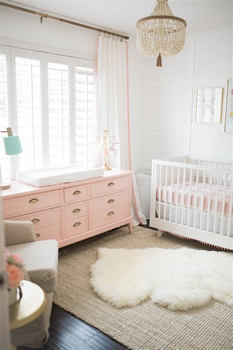 posh home bright white  pink baby girl nursery
