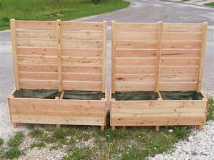 Jardinière Brise Vue : jardini re avec brise vue palissade jardin pinterest ~ Premium-room.com Idées de Décoration