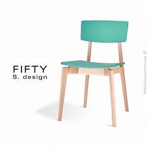 Chaise en bois fifty structure aspect naturel assise et for Deco cuisine avec chaise couleur pied bois