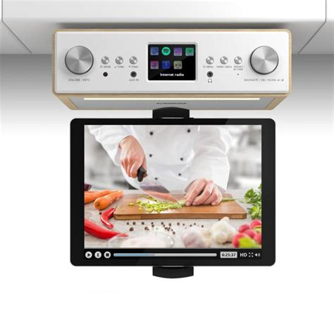 kitchen tv radio cabinet connect soundchef kitchen radio with tablet holder dab 8677