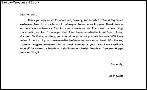 Bid On Flights Thank You Letters To Veterans Exle Sle Templates