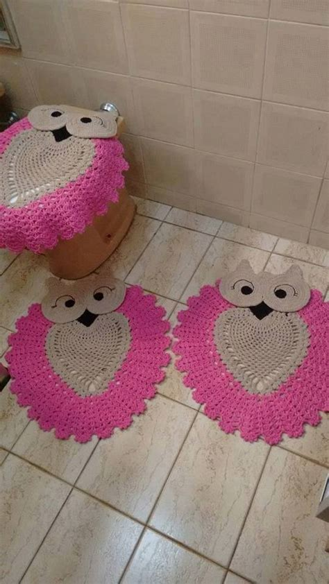 owl bathroom set crochet pattern 50 crochet bathroom set patterns 1001 crochet