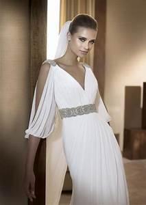 Sheath Split Sleeve Empire Waist Chiffon Wedding Dress ...