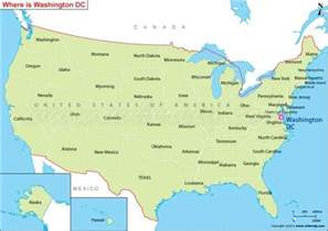 Washington DC On USA Map