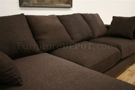 brown twill fabric modern sectional sofa florence