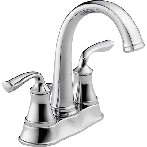 shop delta lorain chrome  handle   centerset
