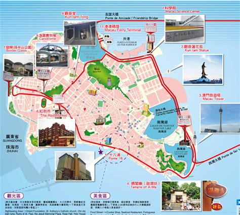map  macau tourist travelquazcom