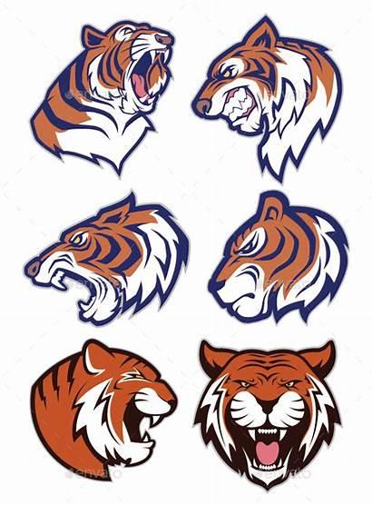 Tiger Mascot Tigers Clipart Cartoon Animal Clip