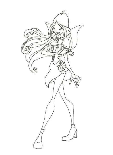 Winx Club Stella Charmix Coloring Pages
