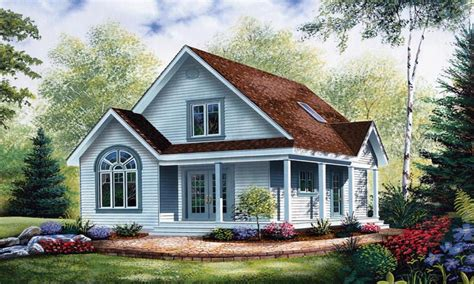 Cottage Plans Cottage Style House Plans With Porches Economical Small