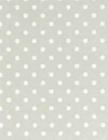 Grey and White Polka Dot Wallpaper