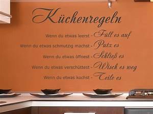 Wandtattoo Küche Bilder : wandtattoo k chenregeln essen k che wandaufkleber wanddeko ~ Sanjose-hotels-ca.com Haus und Dekorationen