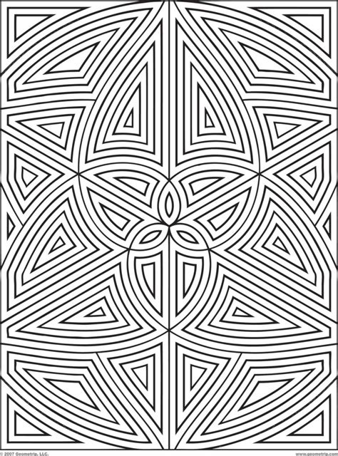 coloring pages geometric designs coloring pages design