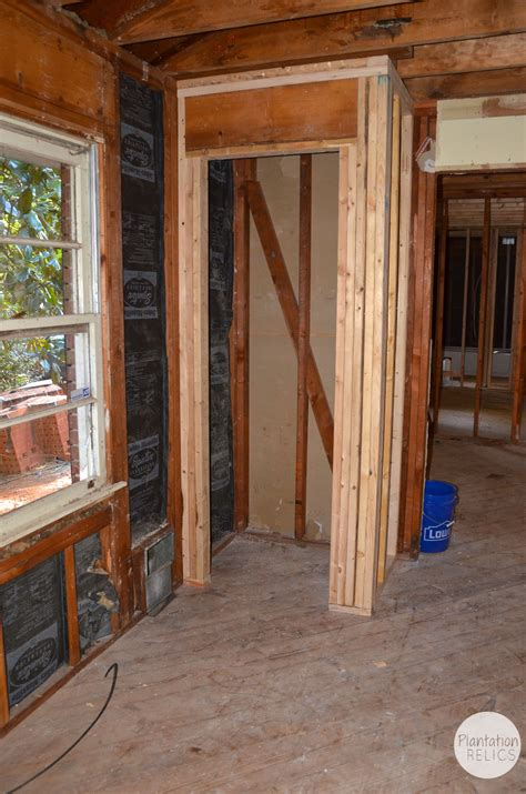 framing the inside of the flip and a room