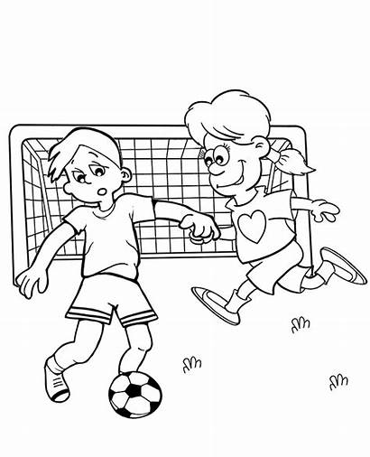 Football Coloring Pages Soccer Match Drawing Topcoloringpages