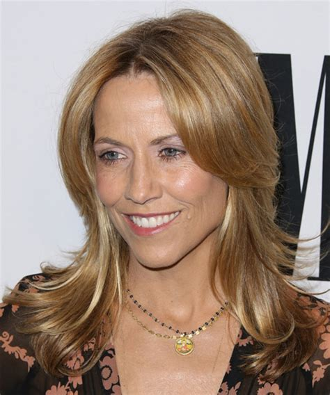Sheryl Crow Medium Straight Casual Hairstyle   Dark Blonde