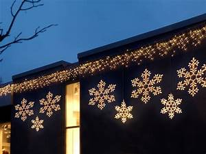 sterne schneeflocken beleuchtete dekorationen outdoor With französischer balkon mit garten weihnachtsbeleuchtung