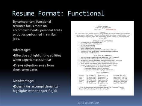 Chronological Resume Advantages by Secrets To Writing An Outstanding Nanny Resume