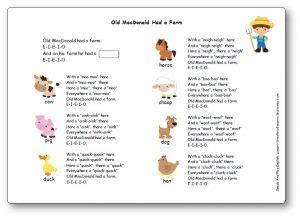 macdonald   farm song lyrics flashcards