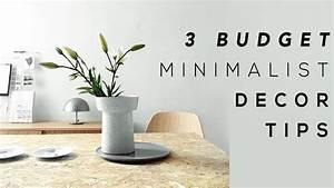 3 BUDGET MINIMALIST HOME DECOR TIPS - YouTube