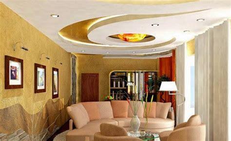 plafon interior  desain garis lengkung  lingkaran