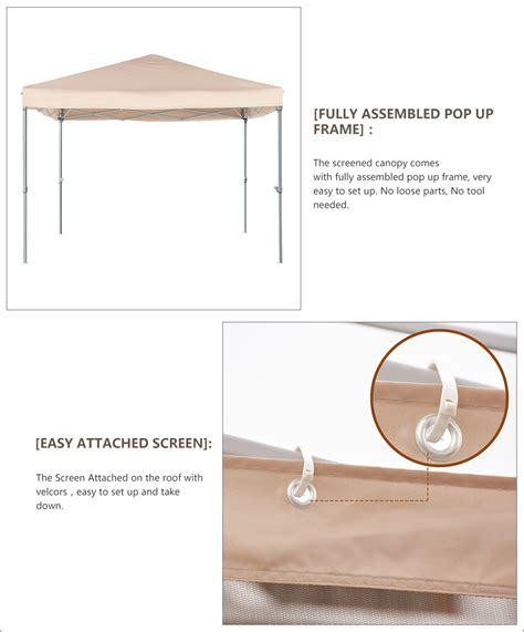 quictent  ez pop  canopy tent  netting screen house mesh sides green  ebay