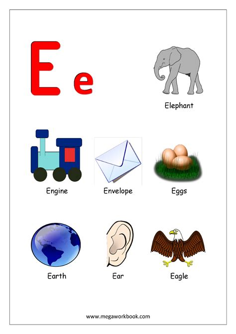 alphabets starting  letter  english worksheets
