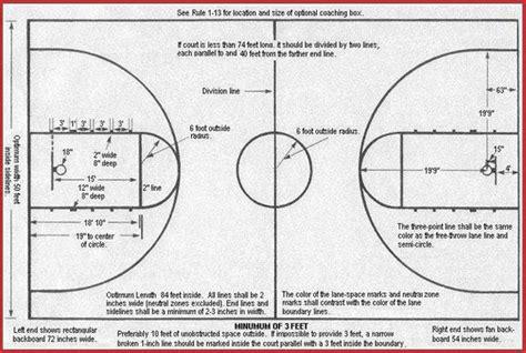 basketball court dimensions  high school basketball